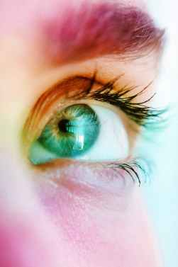 macro photography of person s eye